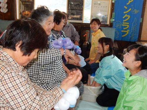 南三陸町田の浦における「いきいき健康交流広場」